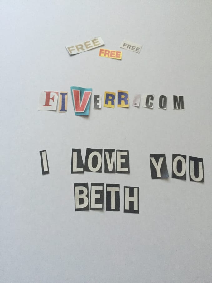 Write your message with magazine cutout letters by pinkies write your message with magazine cutout letters spiritdancerdesigns Choice Image