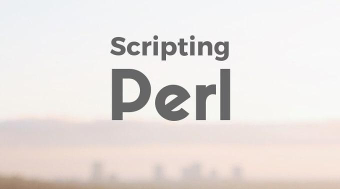 write a perl script