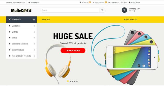 design awesome ecommerce website store multivendor on laravel