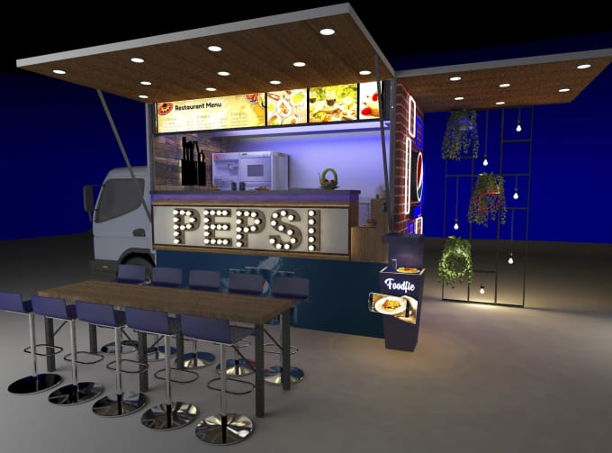 Exhibition Stall Requirements : Make an interior exterior and exhibition stall design by