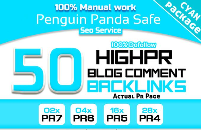 do manually 50 high da pa blog comment backlinks