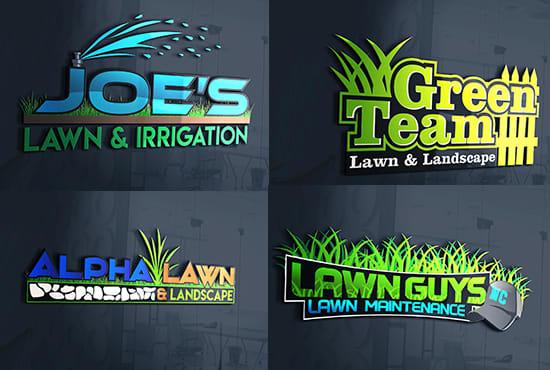 design professional landscape and lawn care service logo