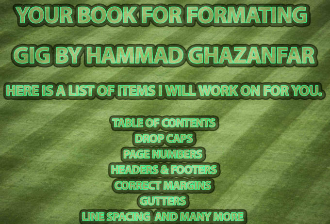 format your book for print ready for amazon KDP