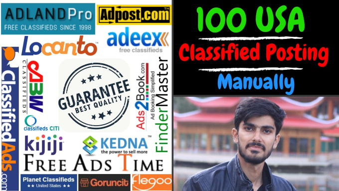 post your ad on top rated USA classified sites manually