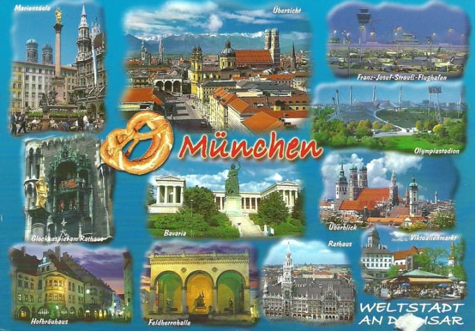 Send A Postcard Or Birthday Card From Munich Germany To Anywhere In The World