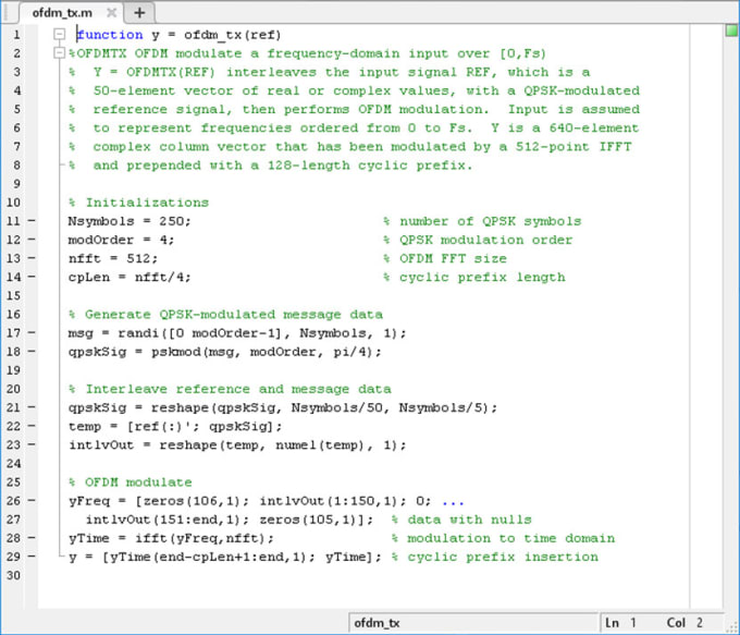 help you in your matlab code