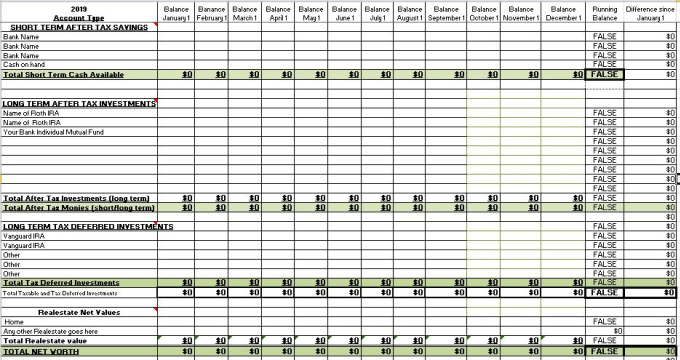 Moneysense08 I Will Create Personalized Spreadsheet Organizing Your Finances For 30 On Www Fiverr Com