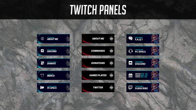 Design 8 simple twitch panels by Qoiren