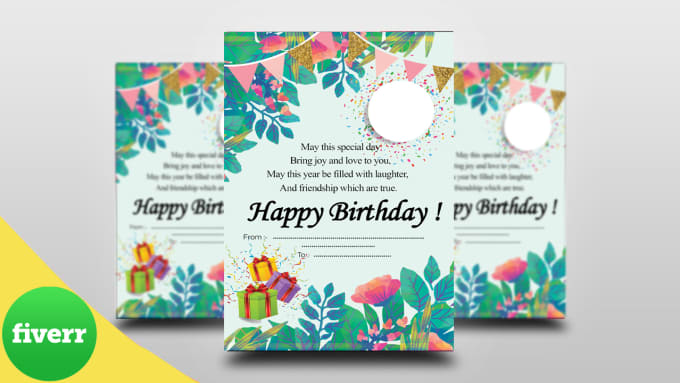 I Will Create A Creative Custom Designed Birthday Card