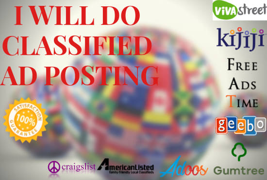 do manually post classified ads on top rated classifed ads