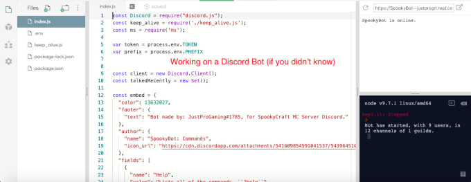 make a discord bot and host it for free