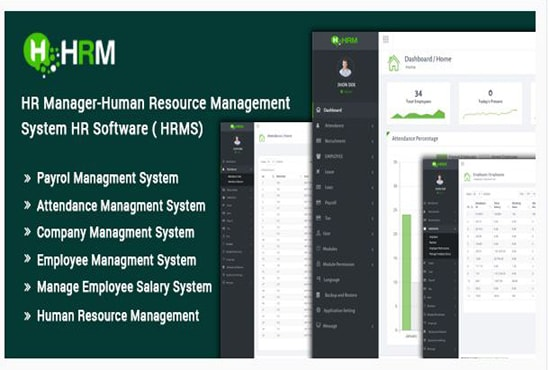 provide hrm, payroll,employee management system with source code
