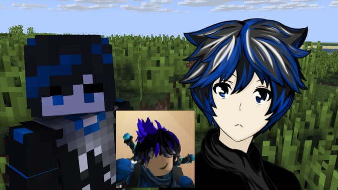 draw your minecraft or roblox avatar in anime