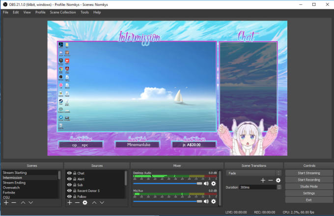 setup streams for gamers