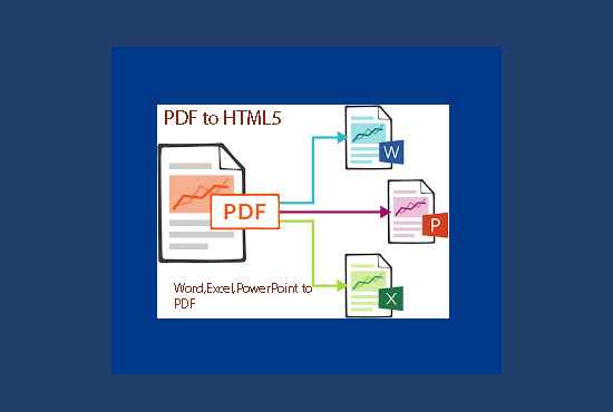 convert pdf to word or html5