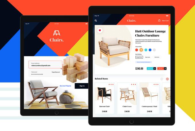 do minimal ipad ios app ui design