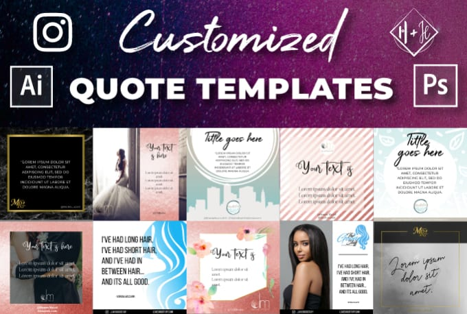 design a customized instagram quote template