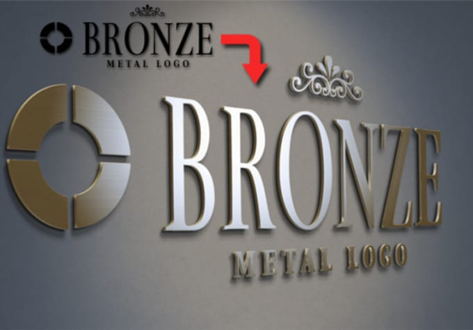 create realistic 3D Mockup from your existing LOGO