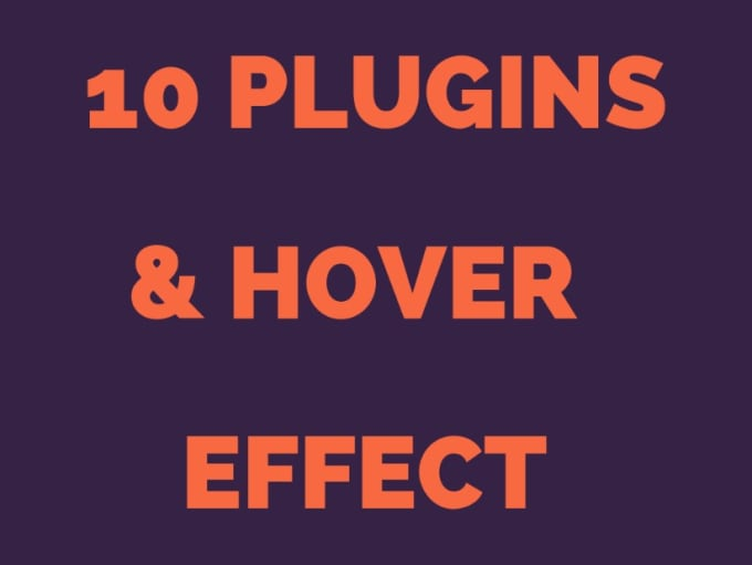 active 10 plugins and hover effect