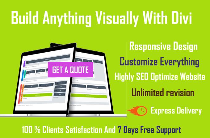 create a website by divi theme,customize divi theme using divi builder