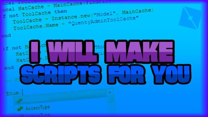 make roblox script for you