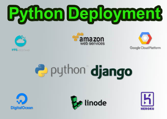 deploy python application to aws, heroku, digital ocean, gcp