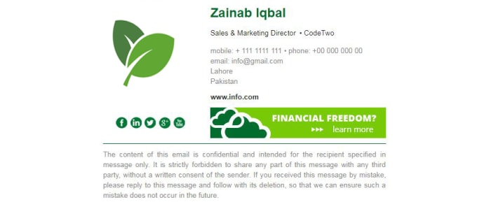 zainab85 : I will design html clickable email signature for $5 on  www fiverr com
