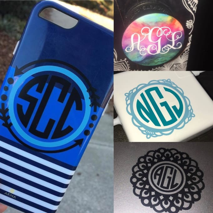 Audrey1215 I Will Make Personalized Monogram Stickers For You For 5 On Www Fiverr Com