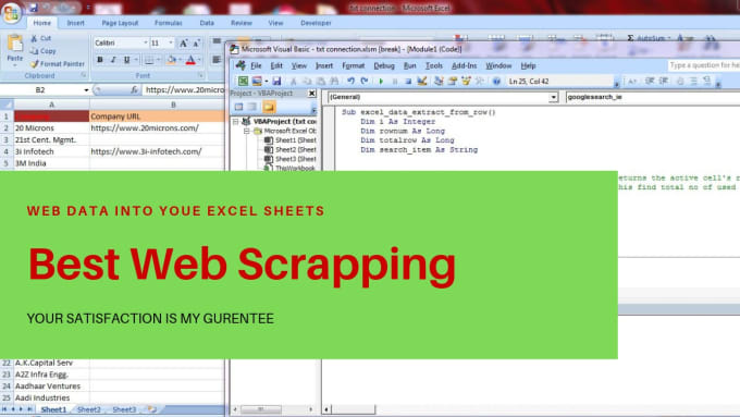 Excel Web Scraping