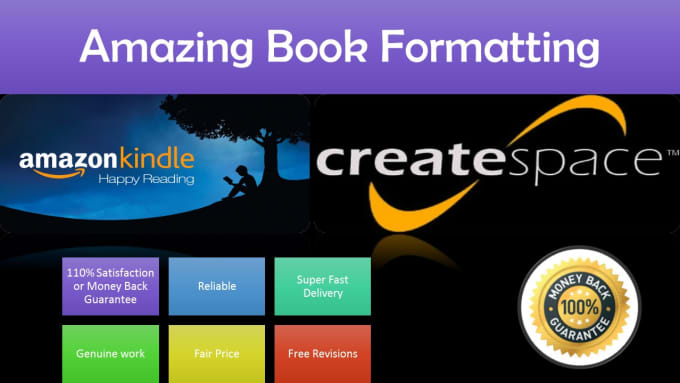 formate your books to ebooks kindle or createspace etc