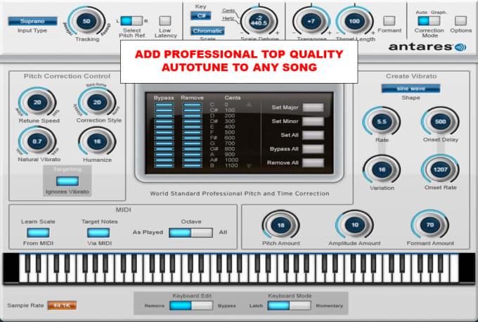 process your vocals through antares autotune 8