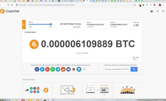rameez021 : I will crypto tab browser light weight fast and ready to mine  for $5 on www fiverr com