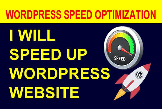 I will do wordpress speed optimization, speed up wordpres website