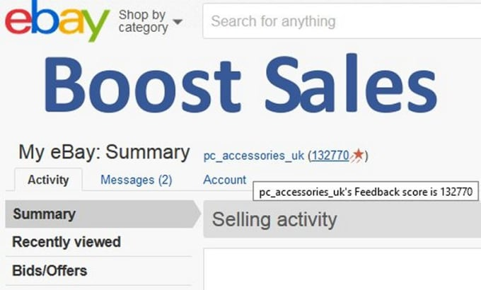 notrab9 : I will share with you my top 10 tips to boost sales on ebay for  $5 on www fiverr com