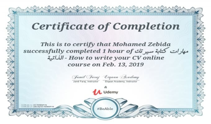 help you write clear cvs in arabic, english and french