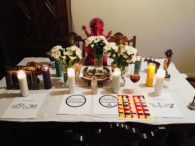 perform a high angel magic ritual for love money healing
