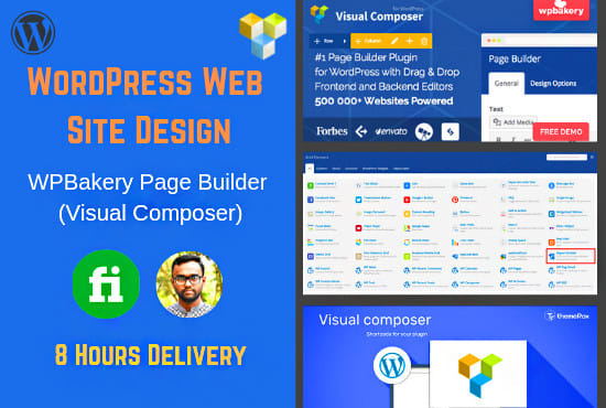 do landing page with visual composer wpbakery page builder