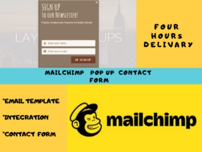Create Mailchimp Email Template Automation Popup