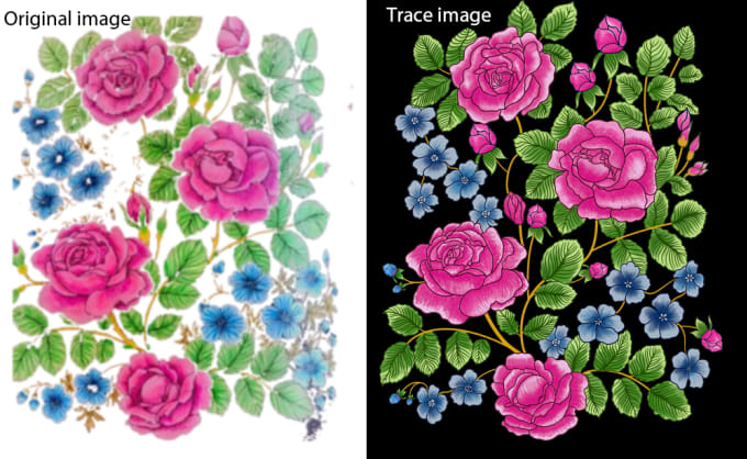 cloudskystar : I will trace floral motif using photoshop channel for $5 on  www fiverr com