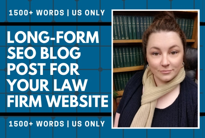 write long form SEO blog posts for a law firm website