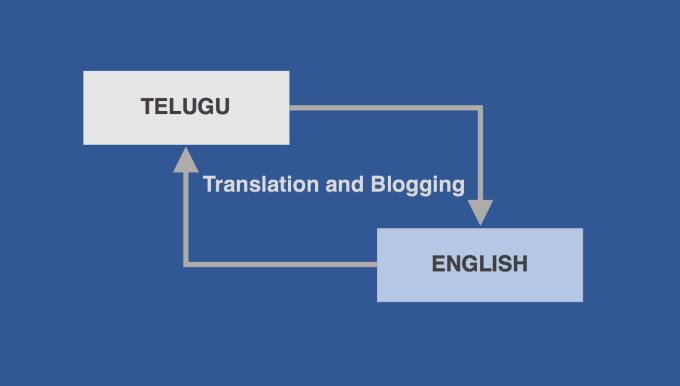 prakashraops : I will write a blog, translate english to telugu for $10 on  www fiverr com