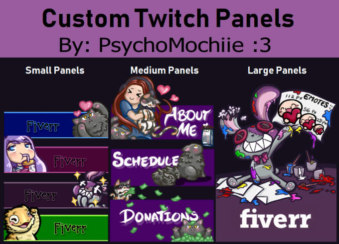 draw you custom panels or buttons for your twitch stream