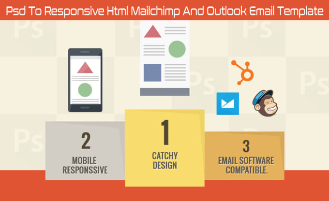 convert design to email template outlook, mailchimp