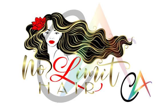 Hair Style Design: Create Feminine Logo For Beauty Hair Salon By Alcalugaru
