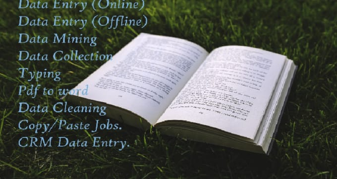 dashrath57505 : I will do data entry, data mining, data analysis and many  more for $5 on www fiverr com