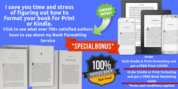 format your book for amazon KDP print and kindle
