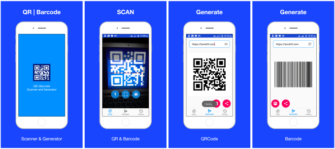 build qr code and barcode scanner and generator for android