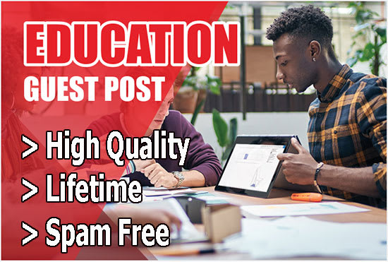 published guest post on high authority education site