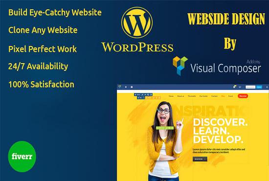 build a wordpress website using wpbakery visual composer. Black Bedroom Furniture Sets. Home Design Ideas