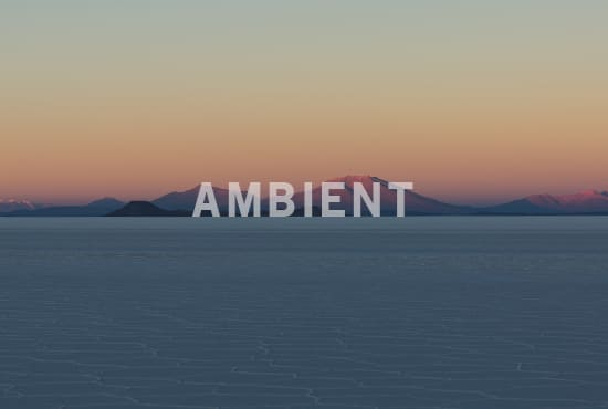 make you atmospheric or ambient music for your video